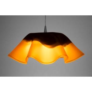 Vinyl Leuchte orange/schwarz